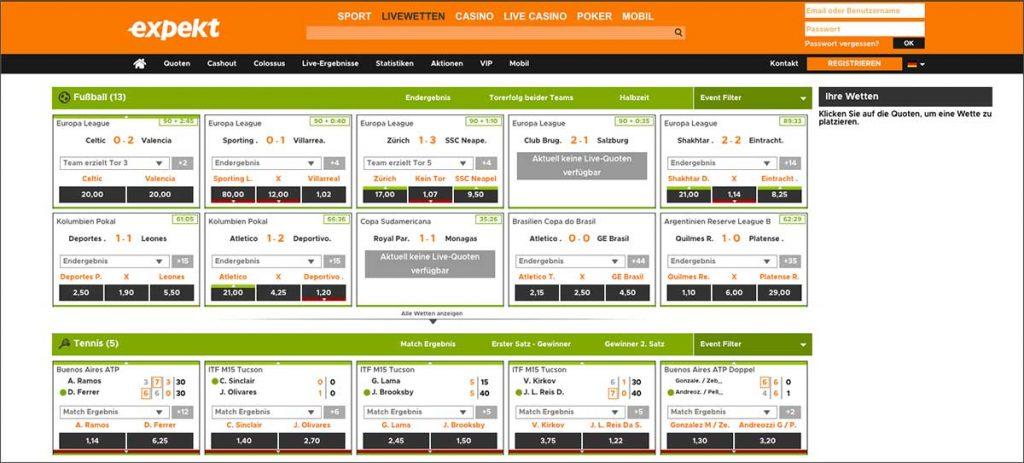 Expekt mobile bettingworld bettingexpert nhl network